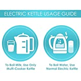 Prestige Electric Kettle Steel 1.5L Electric Kettle With Concealed Element And Detachable Powerbase,Deep Black
