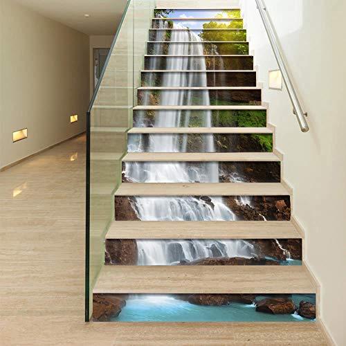 Liapianyun 13 Stücke Treppen Aufkleber, 3D DIY Selbstklebende Aufkleber Wand Home Decor Abnehmbare Aufkleber Für Treppenhaus,1