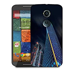 Snoogg Dark Side Of Building Designer Protective Phone Back Case Cover For Moto X 2nd Generation