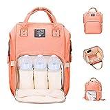 Lifecolor Baby Windel-Tasche Wasserdicht Multifunktions Reise Rucksäcke Grosse Kapazität, Stilvoll und Dauerhaft (Rosa)