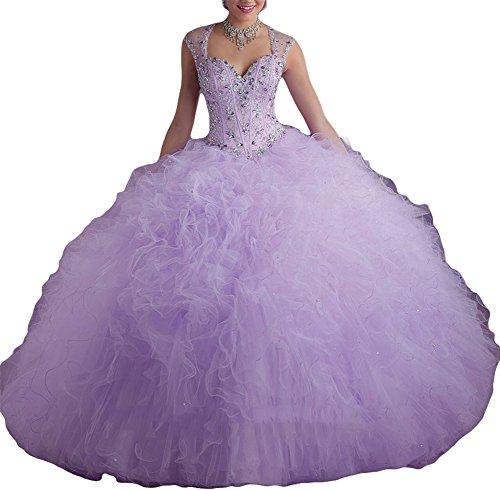 Bridal_Mall - Robe - ball gown - Femme Light-Purple