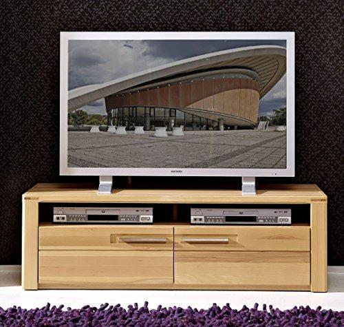 Stella Trading Buche Geölt Kernbuche Massiv Wohnzimmer Stauraumelement TV-Element Lowboard Kommode, Holz, Braun, 45 x 130 x 40 cm