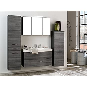 Möbel für bad  Badezimmer Komplettset Schrank Bad Waschtisch Möbel Set Spiegel ...