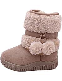 CCZZ Chica Calentar Botas De Nieve Niños Invierno Botines Ante Anti-Deslizante Zapatos Botas de Trabajo Zapatos Calientes Zapatos Bebe