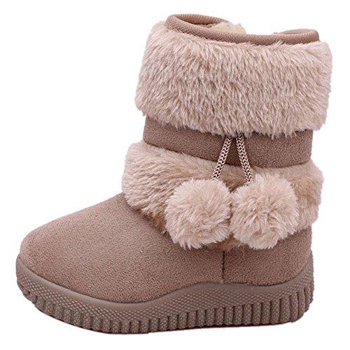 CCZZ Chica Calentar Botas De Nieve Niños Invierno Botines Ante Anti-deslizante Zapatos Botas de Trabajo...
