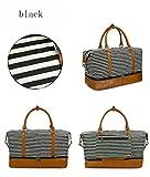 BLLOLE Sporttasche Große Kapazität Gepäcktasche Mode Streifen Reisetasche leinwand Reisetasche lagerung trockene und nasse trennung