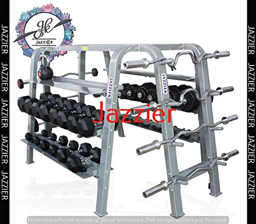 Jazzier Multi Weight Storage Rack (Without Dumbbells, Kettlebell, Gym Ball, and More) WR-08