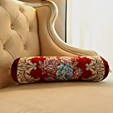 Home Sofa Car Decoration Ornament Hold Throw Pillow Cushion Christmas Thanksgiving Gifteuropean Cushion Upscale Hotel Core-Club Car Bed Backrest Pillow,10*45Cm Red