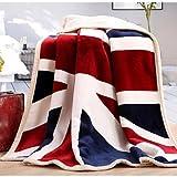 SUNNY KEY--Mantas para cama @ Súper Suave Bandera Nacional Poliéster mantas , red