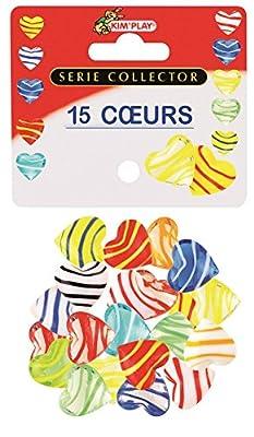 MaRécréation-MesBilles Kim'play - 9045 - Billes - 15 Cœurs