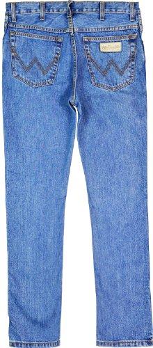 Wrangler Herren Jeans Straight Leg, reine Baumwolle Blau - Denim