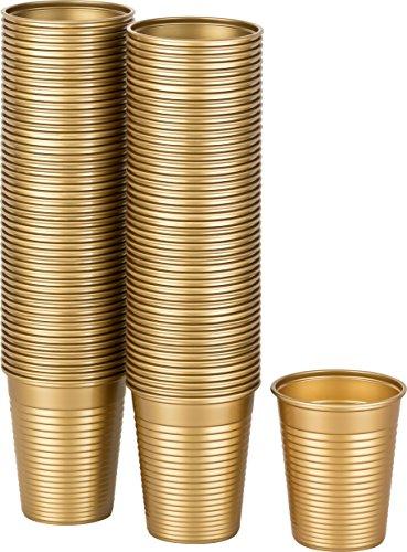 echer Kunststoff gold, 100 Stk, 0,18 Liter (Gold-und Rosa-party)