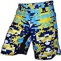 Crossfit pantalones cortos, pantalones cortos de MMA, Kick Boxing pantalones cortos–Camuflaje digital–Impresionantes Shorts