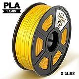 PLA 3D Drucker Filament,±0,02 mm Toleranz,1kg/Spule,1,75mm PLA,Umweltfreundliches Filament Geeignet für 3D-Drucker/3D-Druckstift,Gold