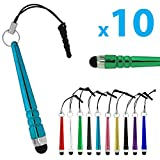 blypower Universal Kapazitiv Stylus Pen Tragbar Mehrfarbig Touchscreen Stift für Kindle Ipad iPhone Samsung Smartphone Tablet von SamGreatWorld