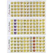 660 etiquetas engomadas felices de Emoji 12 etiquetas engomadas divertidas lindas de las hojas Caras felices