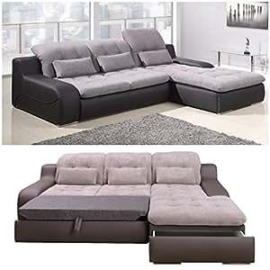 polsterecke sofa bavero mit schlaffunktion schlafsofa schlafcouch wohnlandschaft kunstleder. Black Bedroom Furniture Sets. Home Design Ideas