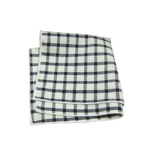 Sitong costume homme coton plaid imprim¨¦ mouchoir poche carr¨¦ GZA14