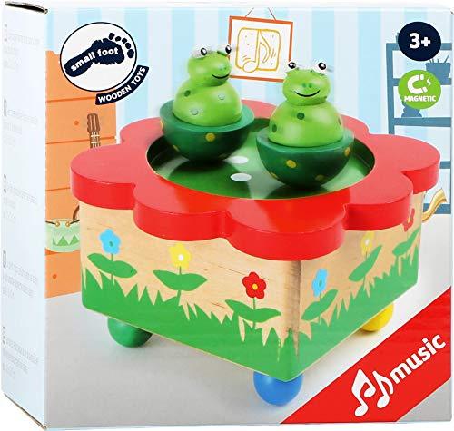 """Spieluhr """"Froschteich"""" / Babyspielzeug aus Holz, mit abnehmbaren, bunten Magnet-Figuren, tanzende Frösche und eine schöne Melodie verzaubern Babys und Kinder - 4"""