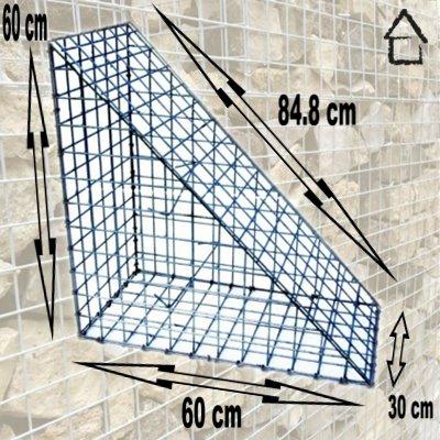 Giardino - Gabion Como Triangle 84.8X60X30 Cm Maille 50X50X3,5 Mm