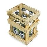Marc&Philipp - Gin Tonic 4x 250ml Longdrinks - frisch aus der Flasche, Edler Gin abgeschmeckt mit feinstem Tonic Water, im 4er Holzkistenträger, Alc. 10,4 % Vol., produziert in Köln, 100% handcrafted