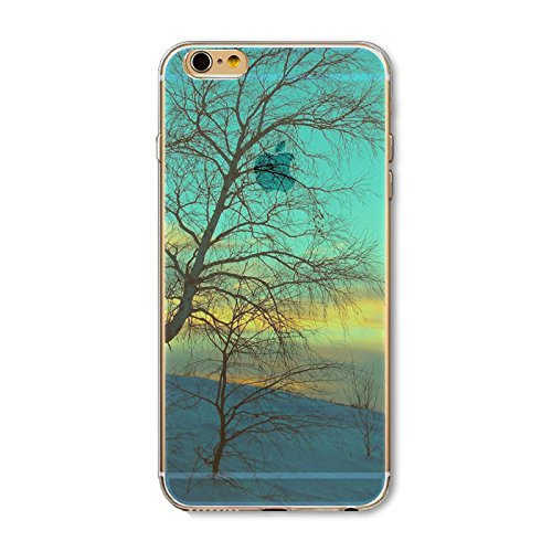 Coque iPhone 5 5s SE Housse étui-Case Transparent Liquid Crystal en TPU Silicone Clair,Protection Ultra Mince Premium,Coque Prime pour iPhone 5 5s-Paysage-style 5 2