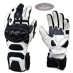 Motorradhandschuhe Profi Racing Motorrad Leder Handschuhe von PROANTI - Größe L