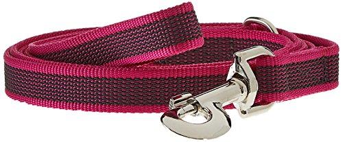 Artikelbild: Julius K9 216GM-PN-S2, Color & Gray gumierte Leine, Pink-Grau, 20 mm x 2 m mit Schlaufe mit D-Ring, Max für 50 kg Hunde