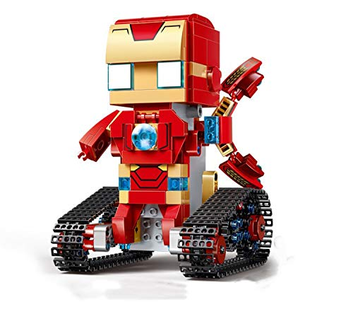 XUMING RC Baustein, elektrischer quadratischer Hauptroboter, DIY zusammengebautes pädagogisches Spielzeug, Vierwegfernbedienung 2.4G, für Kinder im Alter von 8+ - Einfach Ps4 Bewegen Sie Die