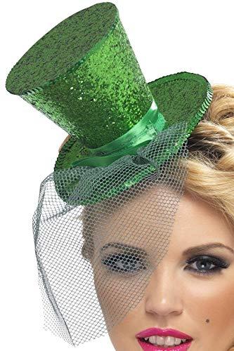Smiffys, Fever, Damen Mini Hut auf Haarreif, One Size,Grün