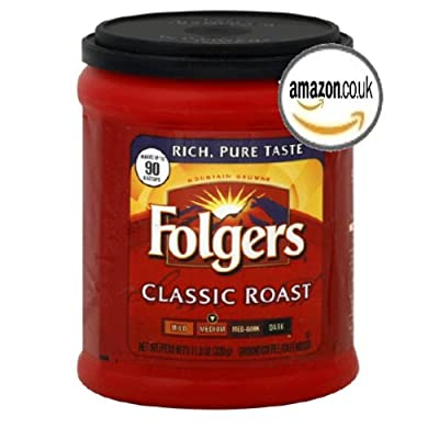 FOLGERS CLASSIC ROAST MEDIUM GROUND COFFEE 1 x 320g TUB AMERICAN IMPORT by FOLGERS