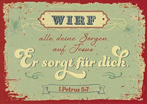 (Postkarte - Sorgen auf Jesus)