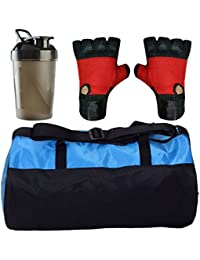 CP Bigbasket Combo Set Polyester Blue Sport Gym Duffle Bag Shoe Compartmen, Gym Shaker (400 Ml), Netted Gym &... - B077QW2JBP