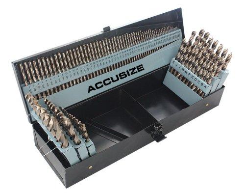accusize–M35HSS + 5% Cobalt Premium 115PCS Bohrer-Set-In, 1/16–1/5,1cm + # 1bis 60+ A bis Z, vollständig vor Ort, # 0422–1003