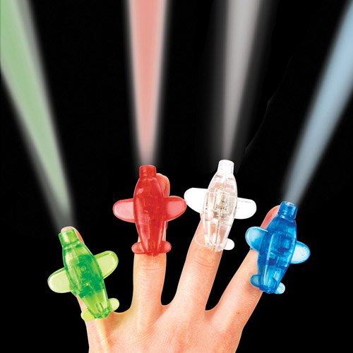 Baker Ross Fingerlichter Flugzeug als lustiges Spielzeug für Kinder zum günstigen Preis – perfekt als kleine Party-Überraschung für Kinder zu Halloween (4 Stück)