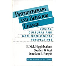 Psychotherapy and Behaviour Change: Social, Cultural and Methodological Perspectives