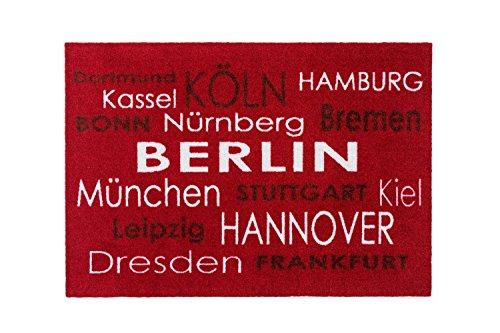 Bavaria Home Style Collection – Fussmatte Städte – Schuhabtreter – Dortmund Kassel Köln Bonn Hamburg Bremen Nürnberg Berlin München Stuttgart Kiel Leipzig Hannover Dresden