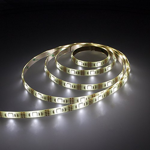 Smartfox LED Strip Leuchtstreifen Lichtband Leuchte Deko 50cm batteriebetrieben selbstklebend in weiß