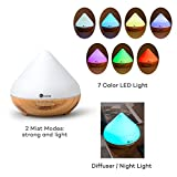 TaoTronics Aroma Diffuser 300ml Luftbefeuchter Oil Düfte Humidifier Holzmaserung LED mit 7 Farben für Yoga Salon Spa Wohn-, Schlaf-, Bade- oder Kinderzimmer Hotel - 5