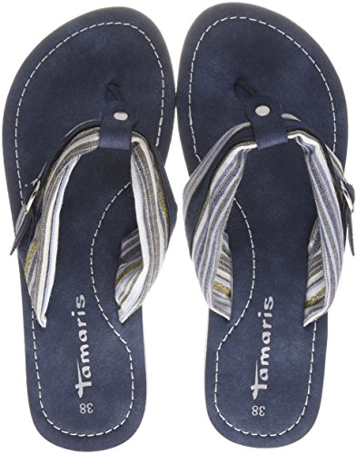 Tamaris Damen 27109 Pantoletten, Blau (Blue Comb), 39 EU