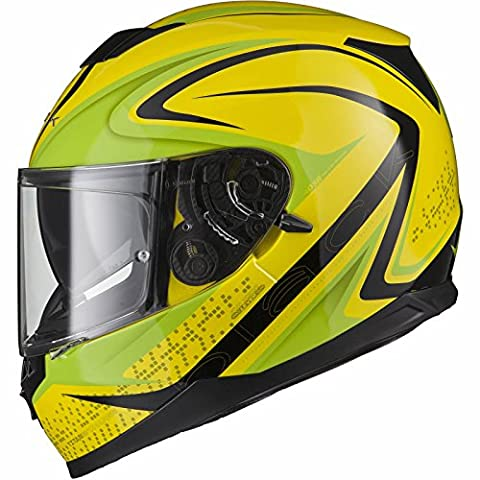 Black Titan SV Charge Motorcycle Helmet L Hi-Viz