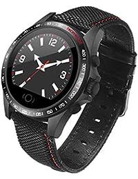 Reloj Pulsera Reloj Inteligente Fuerzas Especiales multifuncionales de 1.6 Pulgadas de natación Impermeable de los Deportes podómetro Militar Reloj Bluetooth Hombres (Color : Black)