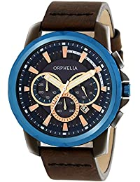 Orphelia Herren-Armbanduhr Chronograph Quarz Leder 81502