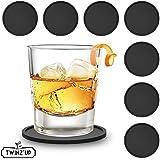 Posavasos de caucho de silicona Twinz'up (juego de 8 piezas) - Negro
