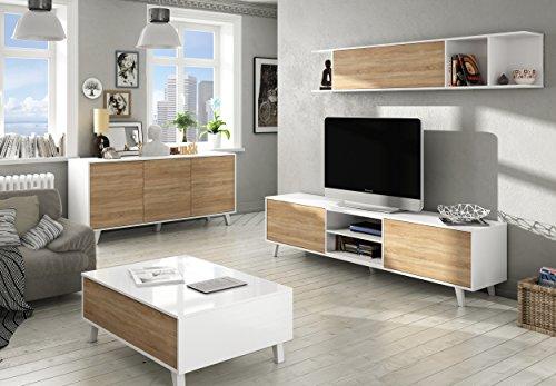 Habitdesign 0f6634bo mueble de sal n comedor m dulo tv - Mueble estilo nordico ...