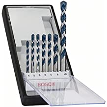 Bosch 2 608 588 167 - Juego de 7 brocas para hormigón Robust Line CYL-5-4; 5; 5; 6; 6; 8; 10 mm (pack de 7)https://amzn.to/2ShkDqw
