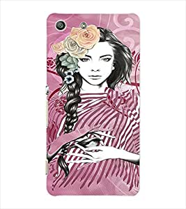 Fuson Peaceful Girl Back Case Cover for SONY XPERIA M5 - D3936