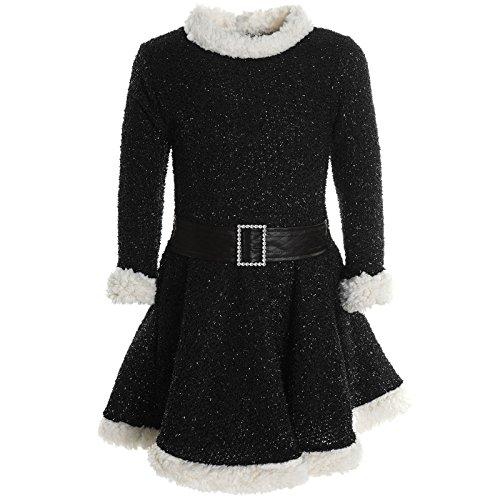 Mädchen Kinder Spitze Winter Kleid Peticoatkleid Festkleid Lang Arm Kostüm 20785