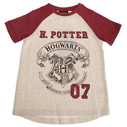 HARRY POTTER - Camiseta Modelo Hogwarts para niños y niñas (13-14 Años/Blanco)