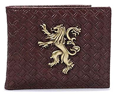 Game Of Thrones Wallet House Lannister Emblem Official Brown Bifold One Size